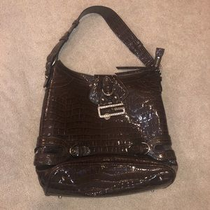 Guess Purse - Brown Patent Faux Pleather